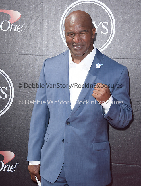 Evander Holyfield attends The 2015 ESPY Awards held at The Microsoft Theatre  in Los Angeles, California on July 15,2015                                                                               © 2015 Hollywood Press Agency