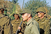 United States Army General Alexander M. Haig, Jr., Supreme Allied Commander, Europe (SACEUR), right, visits the North Atlantic Treaty Organization (NATO) soldiers in the field during the Arrow Express Exercise in Denmark on September 1, 1977.