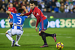 Club Deportivo Leganes's Unai Bustinza and Club Atletico Osasuna's Alx Berenguer  during the match of La Liga between Club Deportivo Leganes  and Club Atletico Osasuna at Butarque Stadium  in Madrid , Spain. November 21, 2016. (ALTERPHOTOS/Rodrigo Jimenez)
