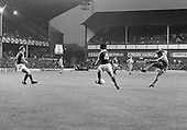 26/08/1980 Everton v Blackpool League Cup 2nd Round 1st Leg .Dave Hockaday fires in a shot between Steve McMahon and Billy Wright....© Phill Heywood.