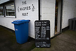 The Magpies Nest, one of the snack bars inside Victory Park, before Chorley played Altrincham in a Vanarama National League North fixture. Chorley were founded in 1883 and moved into their present ground in 1920. The match was won by the home team by 2-0, watched by an above-average attendance of 1127.
