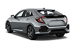 Car pictures of rear three quarter view of 2017 Honda Civic Executive 5 Door Hatchback Angular Rear