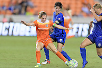 Houston, TX - Sunday Sept. 25, 2016: Kealia Ohai, Keelin Winters during a regular season National Women's Soccer League (NWSL) match between the Houston Dash and the Seattle Reign FC at BBVA Compass Stadium.