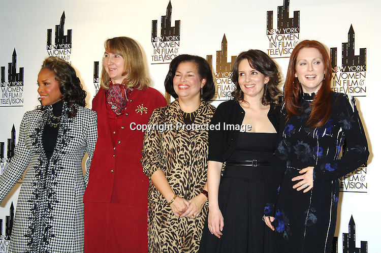 MC Lynn Whitfield, Honorees Susan Morse, Debra Lee, ..Tina Fey and Julianne Moore ..at The New York Women in Film and Televison 25th Annual ..Muse Awards luncheon on December 13, 2005 at The New York Hilton Hotel. ..Photo by Robin Platzer, Twin Images