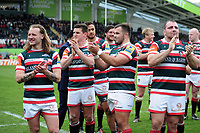 Leicester Tigers players applaud during a presentation to team-mate Marcos Ayerza after the match. Aviva Premiership match, between Leicester Tigers and Sale Sharks on April 29, 2017 at Welford Road in Leicester, England. Photo by: Patrick Khachfe / JMP