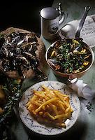 Europe/Belgique/Région de Bruxelles-Capitale/Bruxelles : Moules-frites