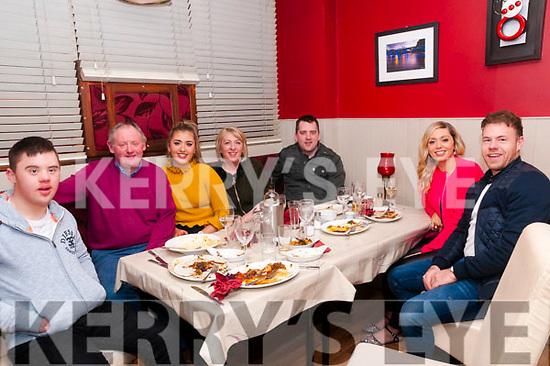 19th Birthday : Amy Lynch, Ballyduff celebrating her 19th birthday with family at eabha Joan's Restaurant, Listowel on Saturday night last. L-R: Donal, dan, Amy, Mary, Damien & Lazura Lynch & Thomas Moloney.