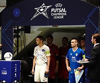 20191010 - HALLE:  UEFA Futsal Champions League Main Round match between FP Halle-Gooik (BEL) and Kherson (UKR) on1 0th October 2019 at De Bres Sportcomplex, Halle, Belgium. PHOTO SPORTPIX | SEVIL OKTEM
