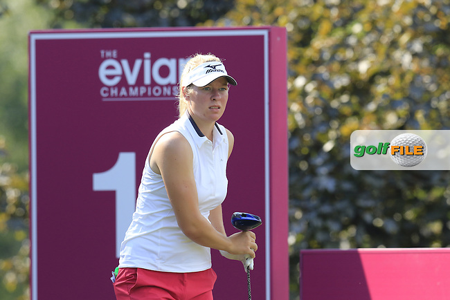 Nicole Broch Larsen (DEN) tees off the 13th tee during Thursday's Round 1 of the LPGA 2015 Evian Championship, held at the Evian Resort Golf Club, Evian les Bains, France. 10/09/2015.<br /> Picture Eoin Clarke | Golffile