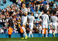 Leeds United's Ben White salutes the fans after the match<br /> <br /> Photographer Alex Dodd/CameraSport<br /> <br /> The EFL Sky Bet Championship - Leeds United v Swansea City - Saturday 31st August 2019 - Elland Road - Leeds<br /> <br /> World Copyright © 2019 CameraSport. All rights reserved. 43 Linden Ave. Countesthorpe. Leicester. England. LE8 5PG - Tel: +44 (0) 116 277 4147 - admin@camerasport.com - www.camerasport.com