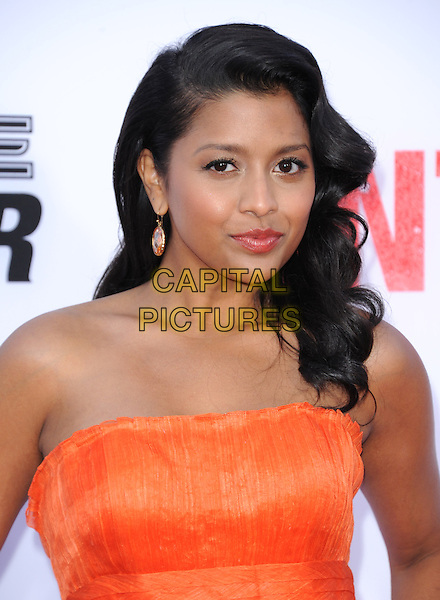 Tiya Sircar<br /> &quot;The Internship&quot; Los Angeles Premiere held at the Regency Village Theatre, Westwood, California, USA.<br /> May 29th, 2013<br /> headshot portrait orange strapless                                               <br /> CAP/RKE/DVS<br /> &copy;DVS/RockinExposures/Capital Pictures