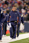17 December 2005: Denver Broncos head coach Mike Shanahan watches the play of his team against the Buffalo Bills at Ralph Wilson Stadium in Orchard Park, NY. The Broncos defeated the Bills 28-17. .Mandatory Photo Credit: Ed Wolfstein