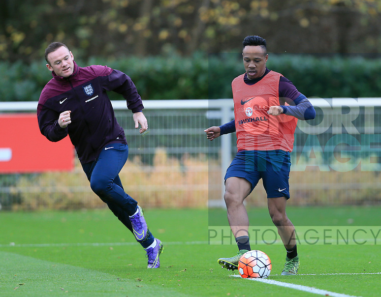 England's Nathaniel Clyne in action during training<br /> <br /> England Training - Tottenham Hotspur Training Ground - England - 16th November 2015 - Picture David Klein/Sportimage