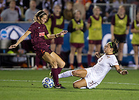 Nickolette Driesse, Danielle King. Florida State defeated Virginia Tech, 3-2,  at the NCAA Women's College Cup semifinals at WakeMed Soccer Park in Cary, NC.