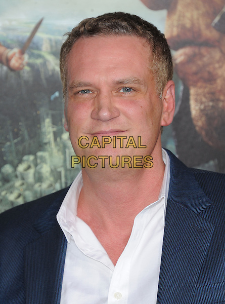 "John Ottman.""Jack The Giant Slayer"" Los Angeles Premiere held at Grauman's Chinese Theatre, Hollywood, California, USA..February 26th, 2013.headshot portrait blue shirt jacket white  .CAP/RKE/DVS.©DVS/RockinExposures/Capital Pictures."