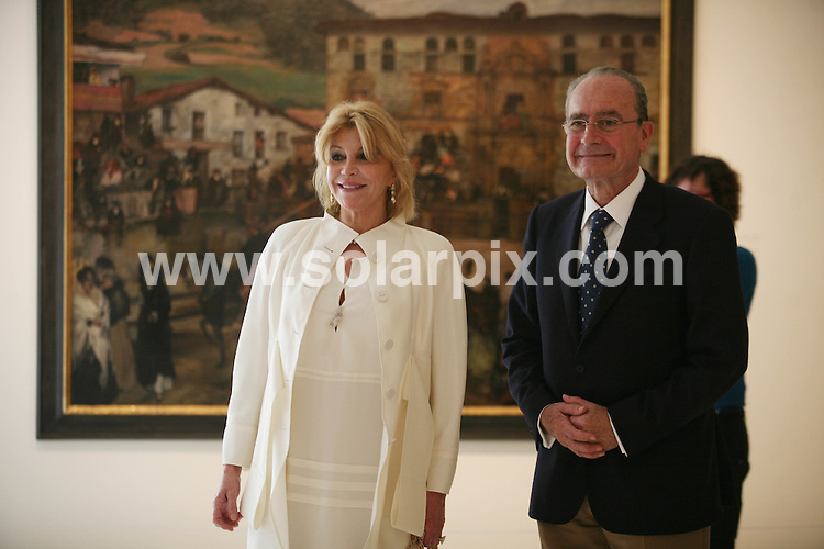 "**ALL ROUND PICTURES FROM SOLARPIX.COM**                                             **WORLDWIDE SYNDICATION RIGHTS EXCEPT SPAIN & SOUTH AMERICA - NO SYNDICATION IN SPAIN OR SOUTH AMERICA**                                                                                  Caption: .Spanish baroness Carmen Thyssen-Bornemisza widow of Baron Thyssen-Bornemisza, said at  the opening  presentation of the Malaga museum that the works on display in the new space, 230 were selected ""for their quality and closeness to Andalusia, although there are paintings that are not Andalusian such as those by Sorolla, Regoyos and Beruete."".The Baroness has loaned these works for free for a period of fifteen years but was confident that ""in no time"" she will reach an agreement to extend the agreement..Among the pieces that the public can see starting tomorrow, Carmen Cervera said there is an anonymous carving of Christ dated between 1230 and 1250 and a painting in which Guillermo Gómez Gil captured the Reding Fountain. ""I acquired the painting many years ago at an auction in London and it was one of my first Spanish works, "" she said.   .                                                                            .This pic: Thyssen-Bornemisza and Malaga mayor Francisco de la Torre                                                                                             JOB REF: 13016       MPA       DATE: 23.03.2011                                                           **MUST CREDIT SOLARPIX.COM OR DOUBLE FEE WILL BE CHARGED**                                                                      **MUST AGREE FEE BEFORE ONLINE USAGE**                               **CALL US ON: +34 952 811 768 or LOW RATE FROM UK 0844 617 7637**"