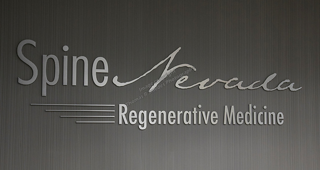 Spine Nevada Professional Circle sign on Monday, December 2, 2017.