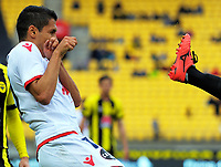 Action from the A-League football match between Wellington Phoenix and Adelaide United FC at Westpac Stadium in Wellington, New Zealand on Sunday, 8 October 2017. Photo: Dave Lintott / lintottphoto.co.nz