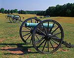 Manassas National Battlefield Park, VA<br /> Confederate cannons aligned on Henry Hill in the First Manassas Battlefield of 1861