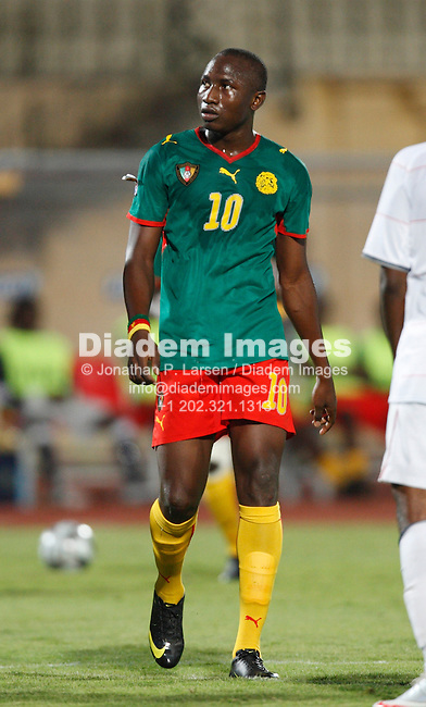SUEZ, EGYPT - SEPTEMBER 29:  Jacques Zoua of Cameroon in action during a FIFA U-20 World Cup soccer match the United States September 29, 2009 in Suez, Egypt.  (Photograph by Jonathan P. Larsen)