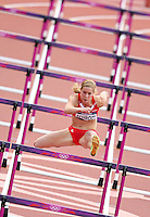 06.08.2012. London, England.Olympic Games 2012  100m hurdles for  women Picture shows Beate Scrap AUT