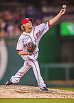 20 May 2014: Washington Nationals pitcher Ross Detwiler on the mound against the Cincinnati Reds at Nationals Park in Washington, DC. The Nationals defeated the Reds 9-4 to take the second game of their 3-game series. Mandatory Credit: Ed Wolfstein Photo *** RAW (NEF) Image File Available ***