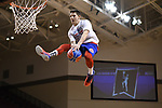 GRAND RAPIDS, MI - MARCH 18: A halftime performer attempts a dunk during the Division III Women's Basketball Championship held at Van Noord Arena on March 18, 2017 in Grand Rapids, Michigan. Amherst defeated 52-29 for the national title. (Photo by Brady Kenniston/NCAA Photos via Getty Images)