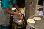 Home-made tortillas, Guanajuato, Mexico
