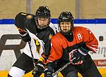 09.01.2020, BLZ Arena, Füssen / Fuessen, GER, IIHF Ice Hockey U18 Women's World Championship DIV I Group A, <br /> Japan (JPN) vs Deutschland (GER), <br /> im Bild Heidi Strompf (GER, #7), Kaho Suzuki (JPN, #13)<br /> <br /> Foto © nordphoto / Hafner