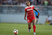Boyds, MD. - Saturday, June 24 2017: Francisca Ordega during a regular season National Women's Soccer League (NWSL) match between the Washington Spirit and the Portland Thorns FC at Maureen Hendricks Field, Maryland SoccerPlex.<br />  The Washington Spirit defeated the Portland Thorns FC 1-0.