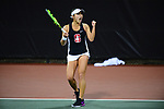 ATHENS, GA - MAY 23: Caroline Lampl of Stanford University celebrates against the University of Florida during the Division I Women's Tennis Championship held at the Dan Magill Tennis Complex on the University of Georgia campus on May 23, 2017 in Athens, Georgia. (Photo by Steve Nowland/NCAA Photos via Getty Images)