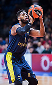22nd March 2018, Aleksandar Nikolic Hall, Belgrade, Serbia; Turkish Airlines Euroleague Basketball, Crvena Zvezda mts Belgrade versus Fenerbahce Dogus Istanbul; Center Jason Thompson of Fenerbahce Dogus Istanbulperforms free throw
