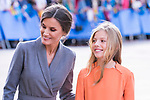 Queen Letizia and  Infant Sofia of Spain during the arrival to Oviedo because of the Princess of Asturias Awards 2019 . October 17, 2019.. (ALTERPHOTOS/ Francis Gonzalez)