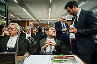Udienza di apertura del processo su Mafia Capitale, al Tribunale di Roma, 5 novembre 2015.<br /> Opening audience of the trial on Mafia Capitale, at Rome's court, 5 November 2015.<br /> UPDATE IMAGES PRESS/POOL - AGF - Alessandro Serrano'˜<br /> <br /> 05/11/2015 Roma, prima udienza del processo Mafia Capitale. Nella foto Giosue' Naso avvocato di Massimo Carminati
