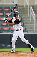 Keenyn Walker #23 of the Kannapolis Intimidators at bat against the Augusta GreenJackets at CMC-Northeast Stadium on May 2, 2012 in Kannapolis, North Carolina.  The GreenJackets defeated the Intimidators 9-6.  (Brian Westerholt/Four Seam Images)