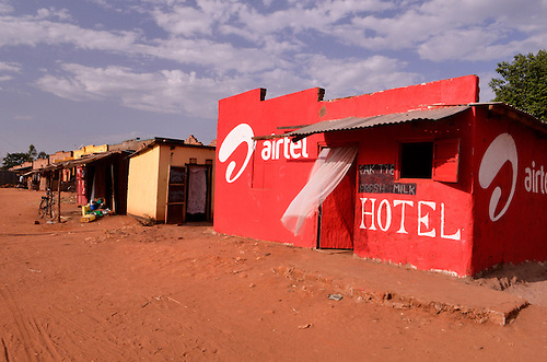 Colorful facades in a small town in northern Uganda, a region now peaceful after years of brutal insurgency by Joseph Kony's Lords Resistance Army (LRA).