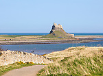 Lindisfarne castle North Sea coast, Holy Island, Northumberland, England, UK