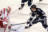 Jake Oettinger (BU - 29), John Hayden (Yale - 21) The Boston University Terriers defeated the visiting Yale University Bulldogs 5-2 on Tuesday, December 13, 2016, at the Agganis Arena in Boston, Massachusetts.