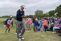 Zach Johnson (USA) makes his way from 9 during Round 2 of the Valero Texas Open, AT&T Oaks Course, TPC San Antonio, San Antonio, Texas, USA. 4/20/2018.<br /> Picture: Golffile | Ken Murray<br /> <br /> <br /> All photo usage must carry mandatory copyright credit (© Golffile | Ken Murray)