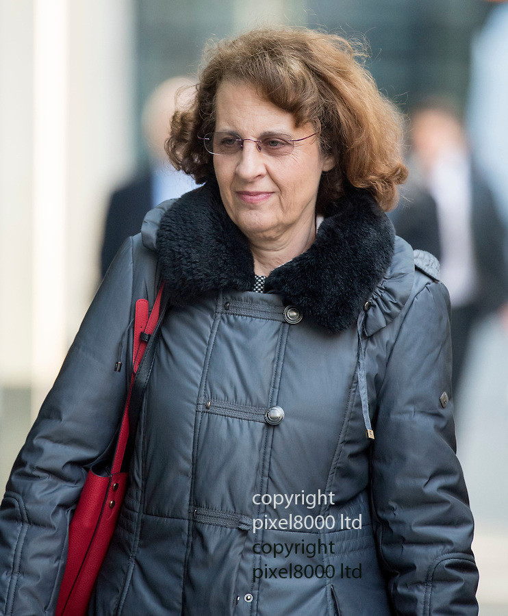 Pic shows:  Carolyn Hamilton arrives at the High Court in London today 24.2.16<br /> <br />  Brother and sister are locked in a bitter legal battle over a £3.2million fund set up by their Jewish father to protect his fortune from a 'repetition of the Holocaust'.<br /> <br /> <br /> Pic by Gavin Rodgers/Pixel 8000 Ltd