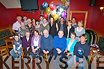 80THJ: John Francis O'Mahony who celebrated his 80th birthday in McElligotts Bar, Ardfert on Friday night with hisw family,Grandchildren and friends (John Francis is seated centre)......