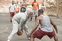 Uncle Drew (2018)<br /> Kyrie Irving stars as &quot;Uncle Drew&quot;<br /> *Filmstill - Editorial Use Only*<br /> CAP/KFS<br /> Image supplied by Capital Pictures