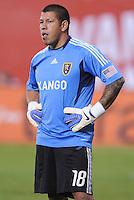 Real Salt Lake goalkeeper Nick Rimando (18). D.C. United defeated Real Salt Lake 4-1 at RFK Stadium, Saturday September 24 , 2011.