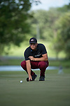 SUGAR GROVE, IL - MAY 29: Mason Overstreet of the University of Arkansas putts during the Division I Men's Golf Individual Championship held at Rich Harvest Farms on May 29, 2017 in Sugar Grove, Illinois. Overstreet placed second with a -7 score. (Photo by Jamie Schwaberow/NCAA Photos via Getty Images)