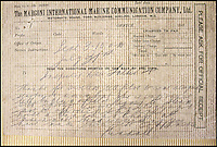 BNPS.co.uk (01202 558833)<br /> Pic: HAldridge/BNPS<br /> <br /> Telegram from Captain Kendall in which he states he has strong suspicions that Dr Crippen is on the ship.<br /> <br /> A 105-year-old archive of messages that led to the dramatic capture of notorious murderer Dr Crippen - the first arrest ever made thanks to telegrams - has emerged for sale for &pound;12,000.<br /> <br /> The messages were sent from the Montrose passenger ship bound for Canada to detectives at London's Scotland Yard as Crippen fled Britain after murdering his opera singer wife in July 1910.<br /> <br /> The collection is tipped to fetch &pound;12,000 when it goes under the hammer at Henry Aldridge and Son of Devizes, Wilts, on November 14.