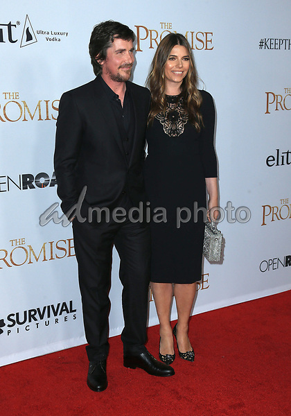 "12 April 2017 - Hollywood, California - Christian Bale, Sibi Blazic. Premiere Of Open Road Films' ""The Promise"" held at TCL Chinese Theatre. Photo Credit: AdMedia"