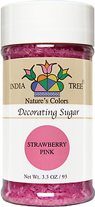 10257 Nature's Colors Strawberry Pink Decorating Sugar, Small Jar 3.3 oz