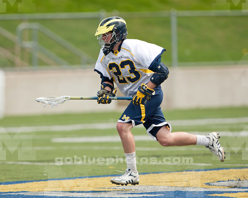 University of Michigan men's lacrosse 23-1 victory over Central Michigan in the CCLA semifinals at Saline High School in Saline, MI, on May 7, 2011.