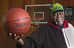 "HELPING HOOP DREAMS COME TRUE - Springfield basketball legend George ""Big Will"" Williams, retired Dunbar Community Center athletic director, helped generations of needy youths use basketball as a way to secure scholarships to attend college. What his former players accomplished off the court, Williams said, is more important to him than their on-court achievements. He is pictured at Dunbar."