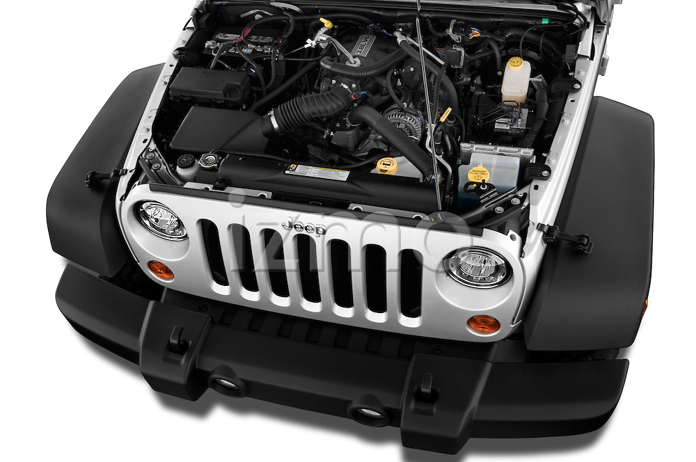 Car Stock 2017 JEEP Wrangler-Unlimited Rubicon 5 Door SUV Engine  high angle detail view